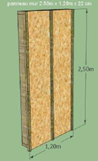 Extension de maison en kit maison bois toit plat extension de maison ext - Prix mur ossature bois m2 ...
